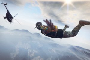 Grand Theft Auto V, Grand Theft Auto Online, Rockstar Games, Parachutes, Helicopters, Freefall, Mountains