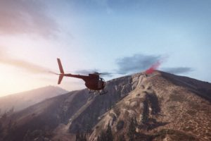 Grand Theft Auto V, Grand Theft Auto Online, Rockstar Games, Mountains, Morning, Beacon, Helicopters
