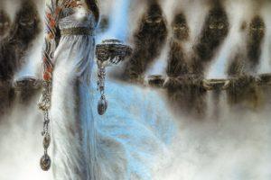 Luis Royo, Women, Dead Moon, Fantasy art, Tattoo