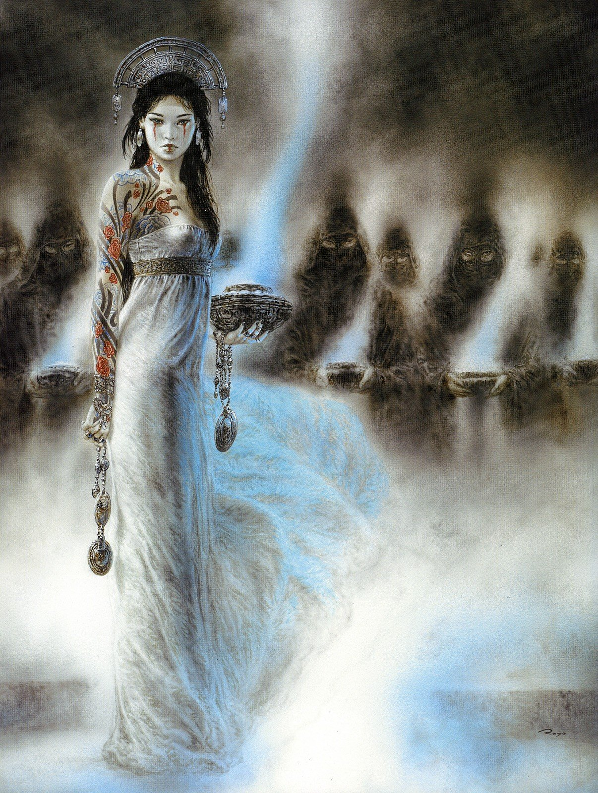 Luis Royo, Women, Dead Moon, Fantasy art, Tattoo HD