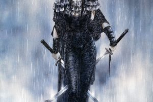 Luis Royo, Women, Warrior, Dead Moon, Fantasy art, Katana