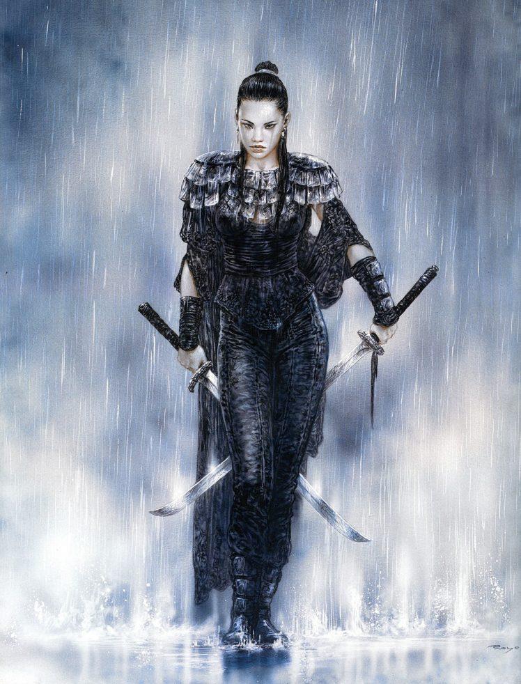 Luis Royo, Women, Warrior, Dead Moon, Fantasy art, Katana HD Wallpaper Desktop Background