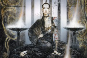 Luis Royo, Women, Dead Moon, Fantasy art, Tattoo