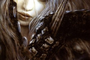 Luis Royo, Women, Fantasy art, Sword, Malefic time, Gloves