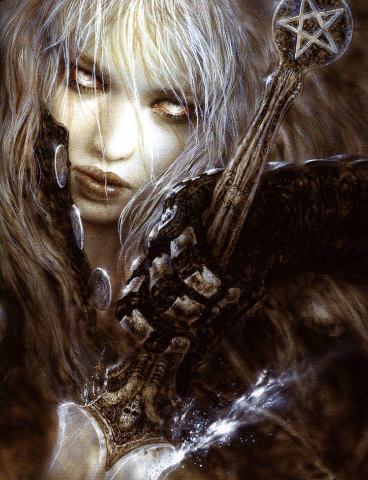 Luis Royo, Women, Fantasy art, Sword, Malefic time, Gloves HD Wallpaper