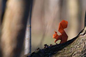origami, Squirrel, Paper