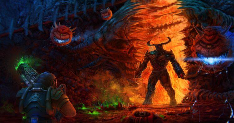 Doom (game), Video games HD Wallpaper Desktop Background