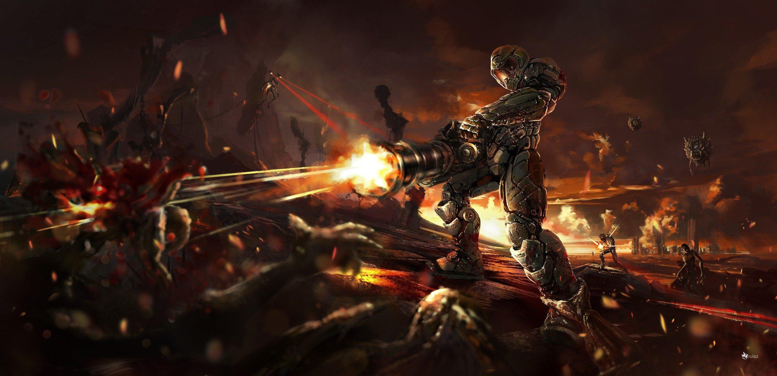 Doom (game), Doom 4 Wallpaper