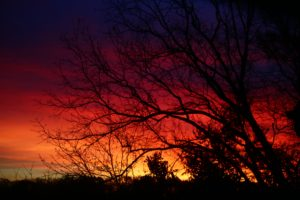 sunset, Landscape