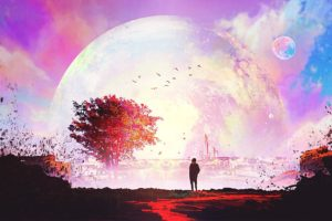 artwork, Illustration, Sunset, Sky, Fantasy art