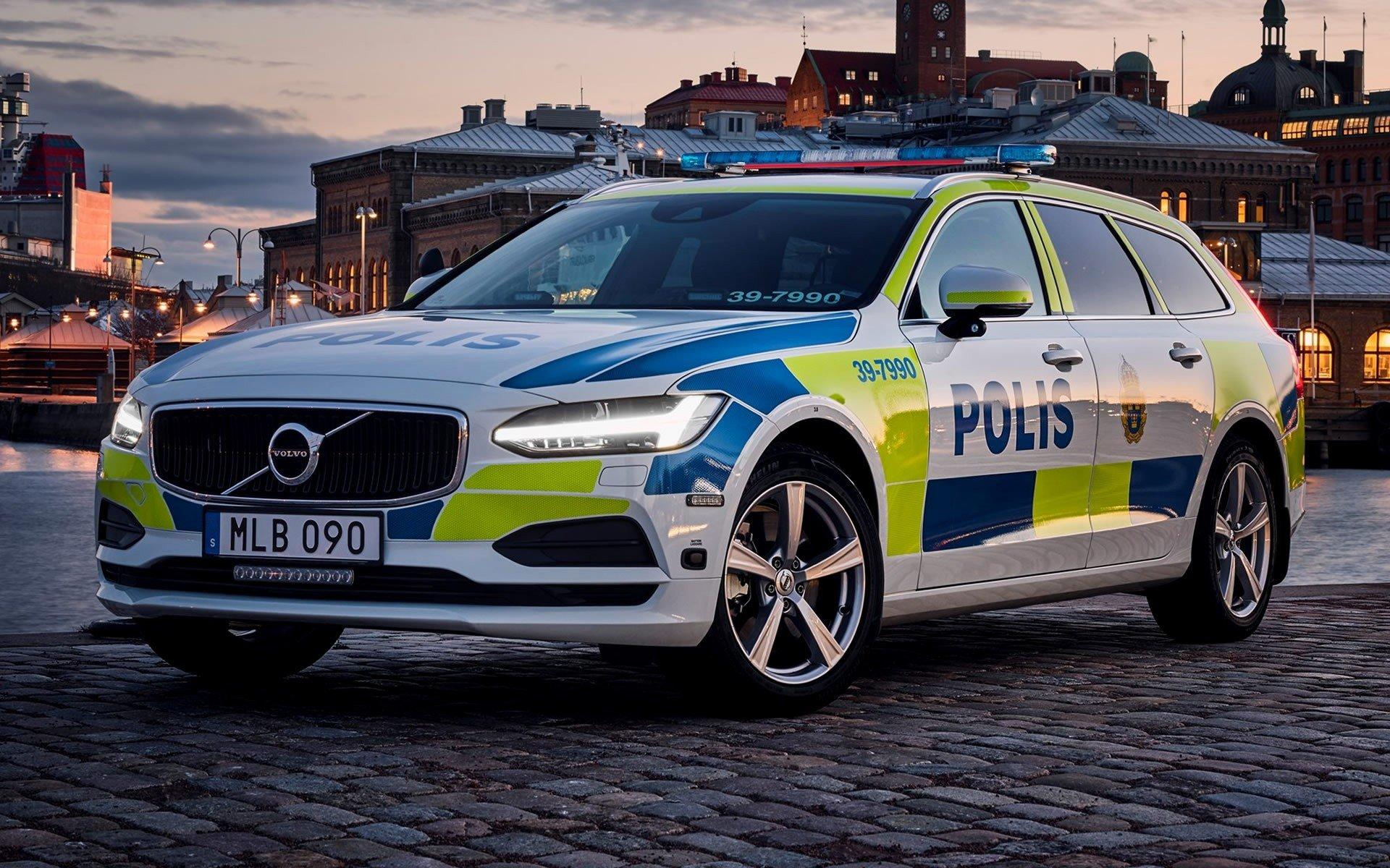Volvo V90, Volvo, Police cars, Sweden Wallpaper