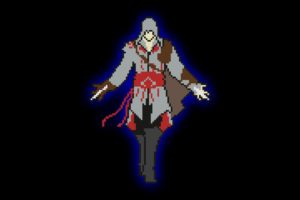 pixel art, Minimalism, Cubic, Assassin&039;s Creed