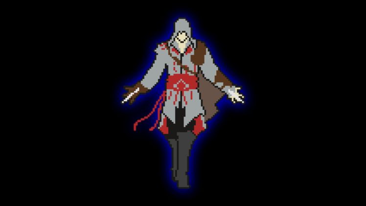 pixel art, Minimalism, Cubic, Assassin&039;s Creed HD Wallpaper Desktop Background
