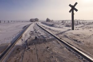 snow, Railway, Landscape, Winter