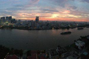 saigon, Ho Chi Minh City, Sunset, Wide angle