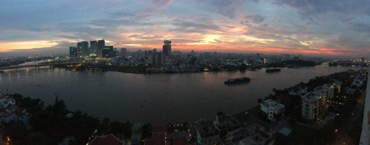 Saigon Ho Chi Minh City Sunset Wide Angle Hd Wallpapers Desktop