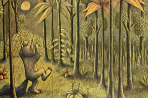 Maurice Sendak, Where the Wild Things Are, Night, Forest, Moon