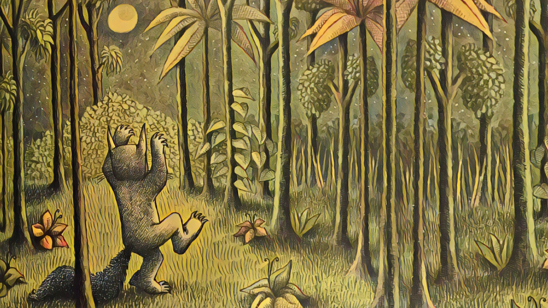 Maurice Sendak Where The Wild Things Are Night Forest Moon Hd
