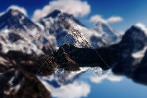 landscape, Digital art, Triangle, Mount Everest, Himalayas, Mountains
