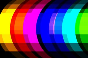 colorful, Digital art, Yellow, Red, Orange, Pink, Blue, Green