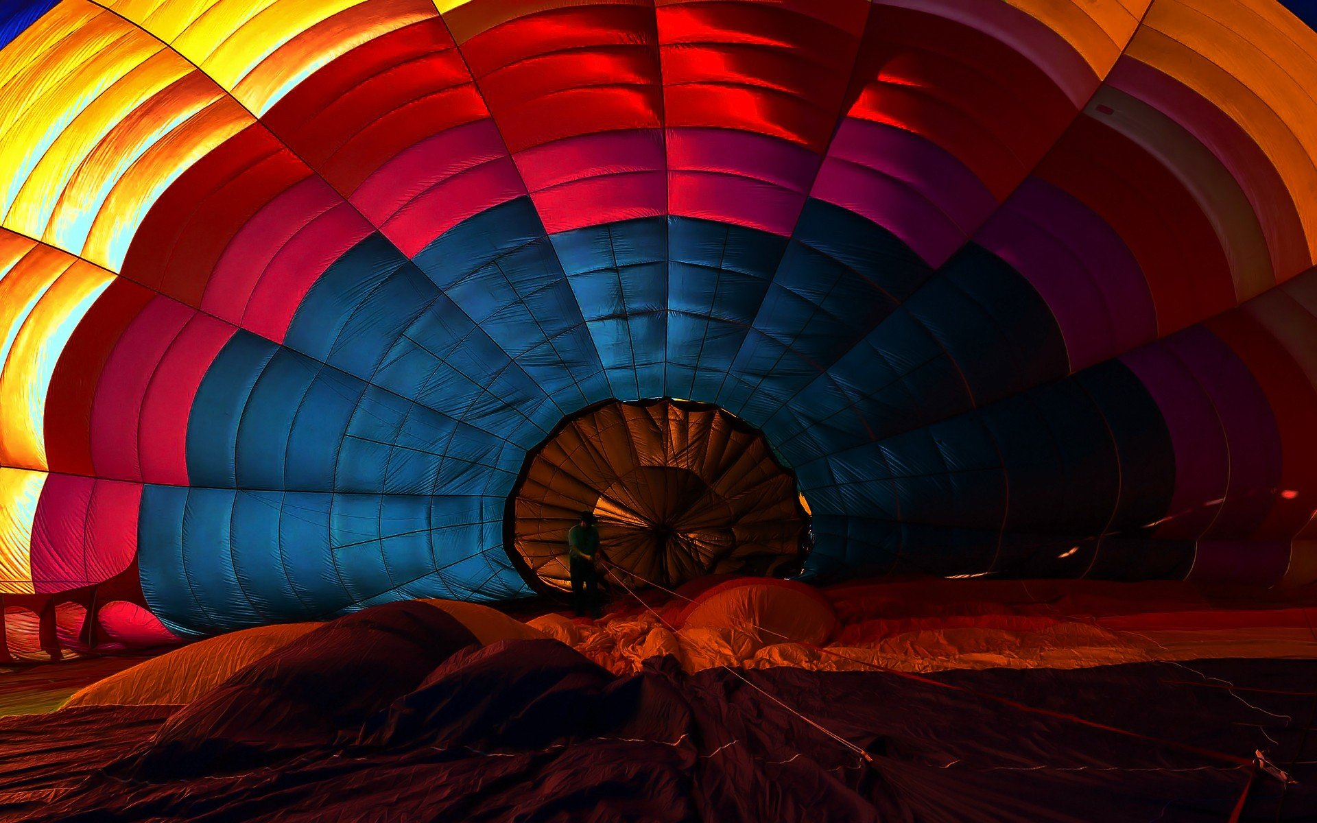 Colorful, Red, Sunset, Blue, Yellow, Pink, Hot Air