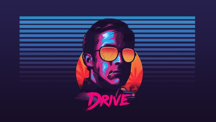 Ryan Gosling, Drive, Sunglasses, New Retro Wave HD Wallpaper Desktop Background