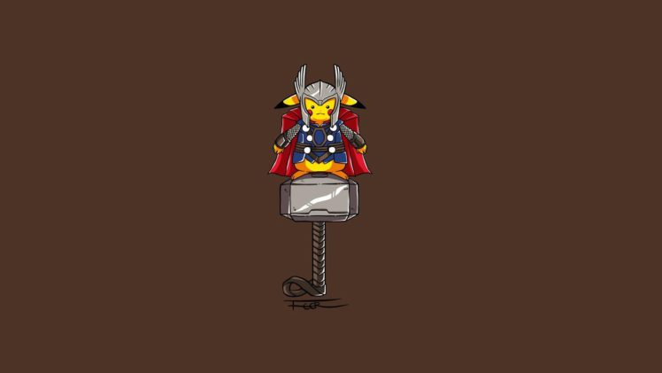 Pikachu Thor Minimalism Hd Wallpapers Desktop And Mobile Images