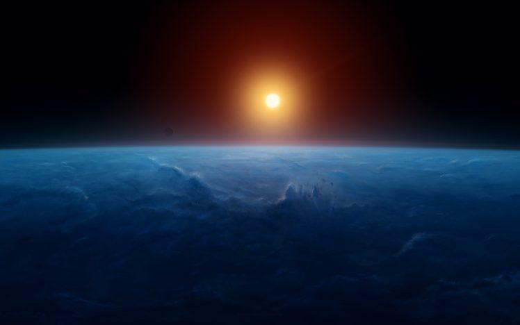 sunset, Earth, Space HD Wallpaper Desktop Background