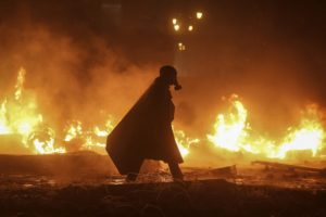 Ukraine, Gas masks, Fire