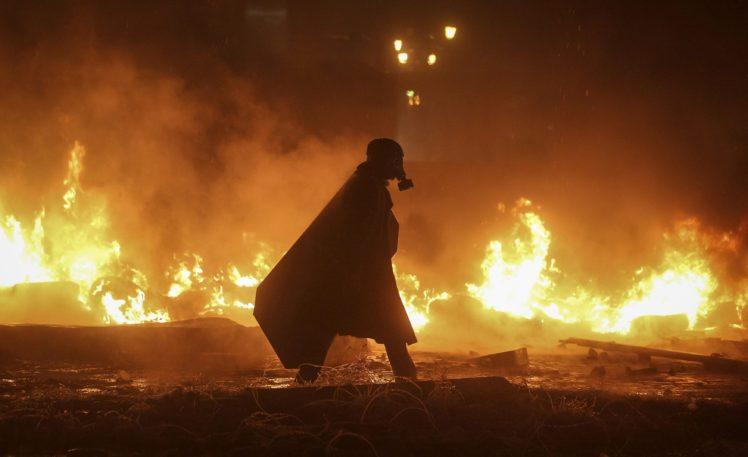 Ukraine, Gas masks, Fire HD Wallpaper Desktop Background