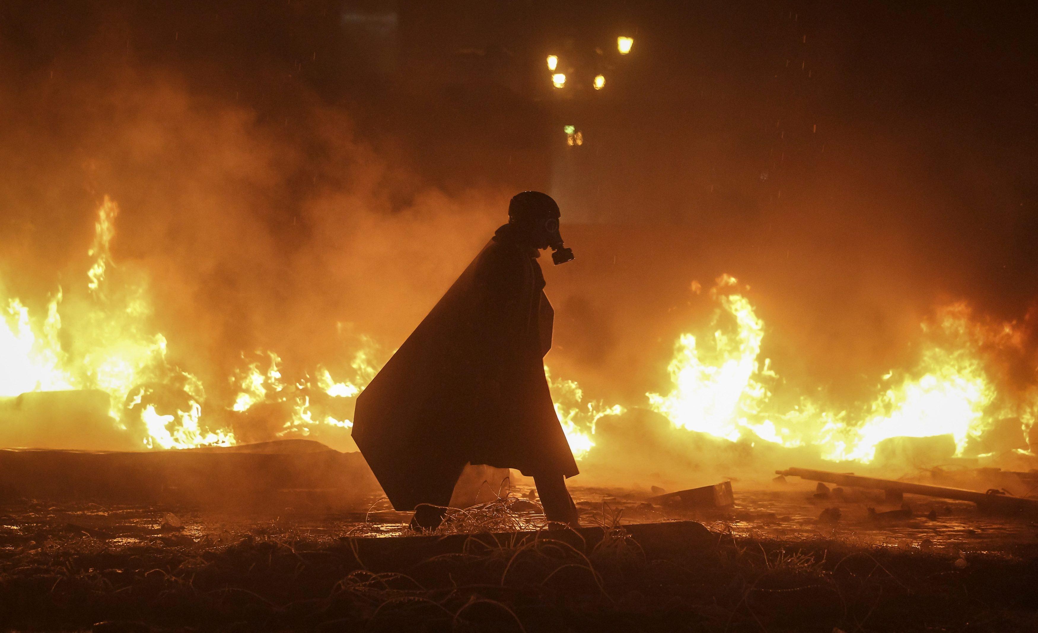 Ukraine, Gas masks, Fire Wallpaper