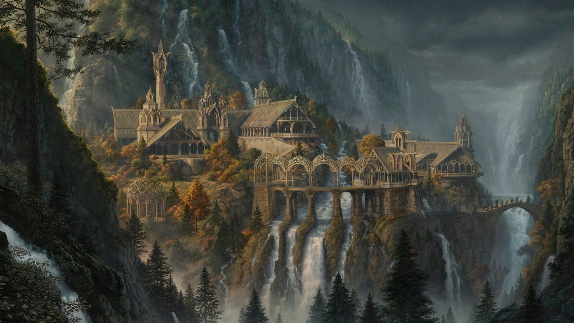 Fantasy Art Waterfall Rivendell The Lord Of The Rings The Lord