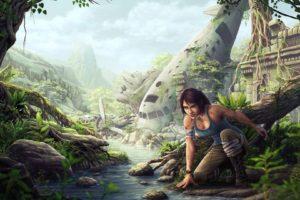 Lara Croft, Fantasy art, Tomb Raider, Tomb raider 2013