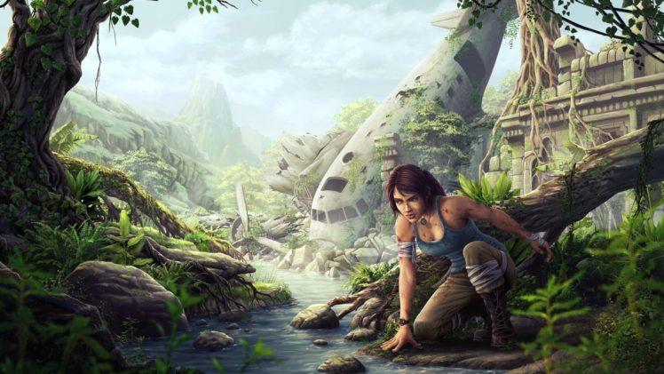 Lara Croft, Fantasy art, Tomb Raider, Tomb raider 2013 HD Wallpaper Desktop Background