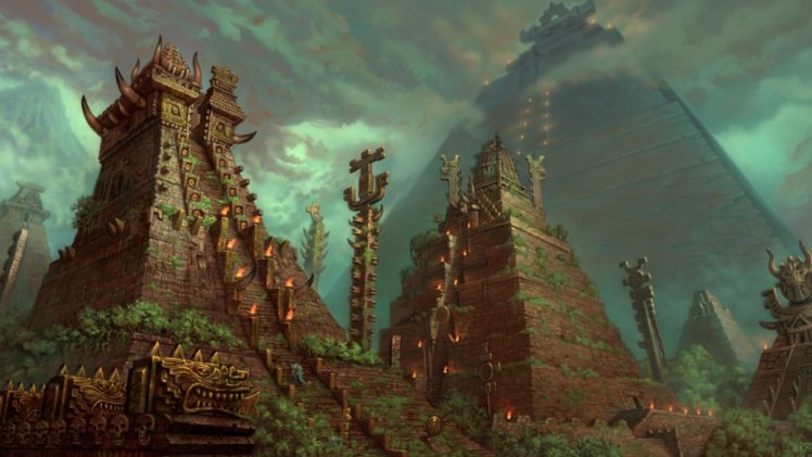 Fantasy art pyramid hd wallpapers desktop and mobile - Fantasy world wallpaper engine ...