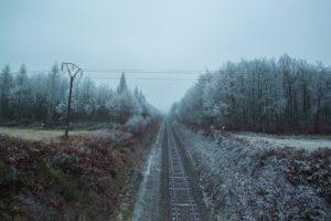 railway, Landscape, Trees, Cold, Winter