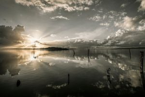 nature, Photography, Landscape, Lake, Calm waters, Sunset, Clouds, Reflection, Italy