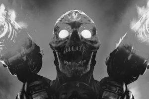 Doom (game), Video games, Monochrome, Skull, Doom 2016