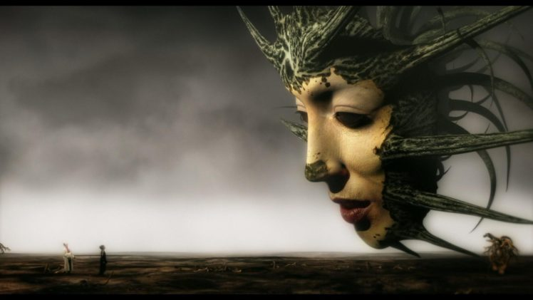 face, Profile, Digital art, Movies, Mirror Mask, Film stills, Fantasy art, Surreal, Horizon, Clouds HD Wallpaper Desktop Background