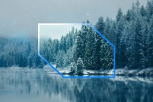 blurred, Landscape, Winter, Trees, Space