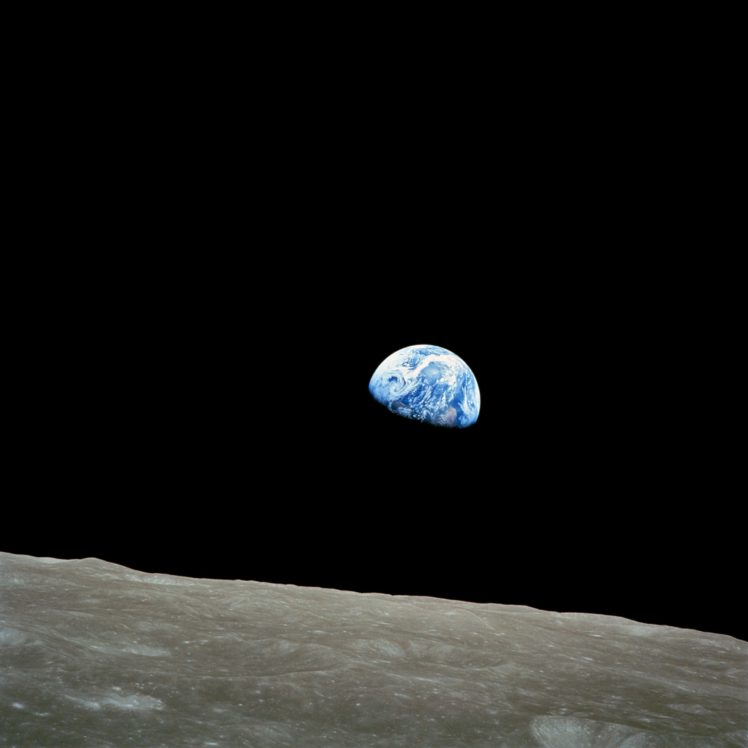 Apollo 8, Earthrise, Space, Moon, Earth, NASA HD Wallpaper Desktop Background