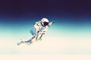 men, Space, Red Bull, Commercial, Jumping