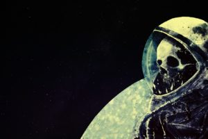 astronaut, Space, Skull, Death, Space art, Artwork, Helmet