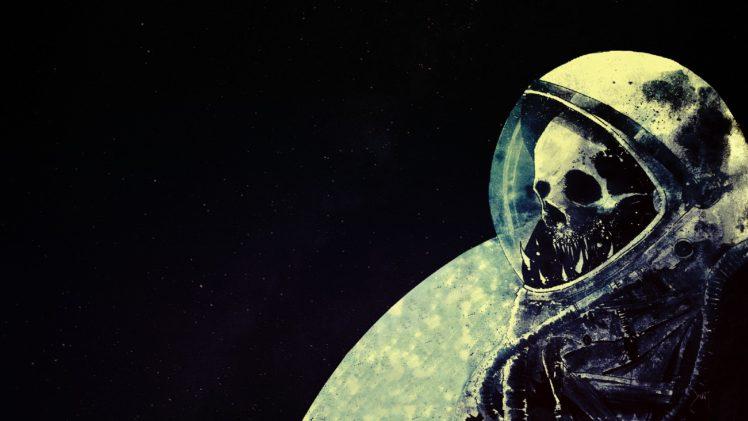 astronaut, Space, Skull, Death, Space art, Artwork, Helmet HD Wallpaper Desktop Background