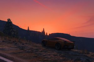 Grand Theft Auto V, Sunset, Landscape