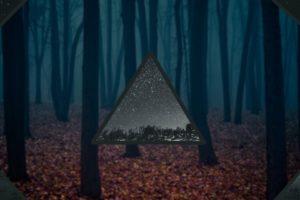 trees, Stars, Space, Blurred