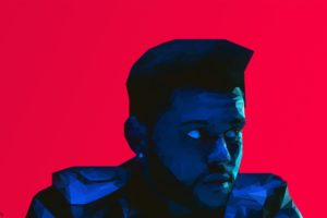 The Weeknd, Low poly, Portrait