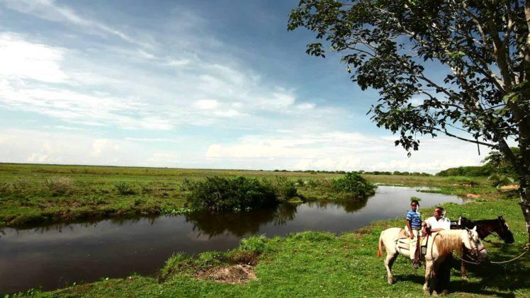 people, Landscape, Nature, Clouds, Horse, Lake HD Wallpaper Desktop Background