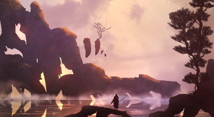 landscape, Reflection, Digital art HD Wallpaper Desktop Background