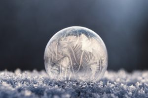 bubbles, Soap, Frost, Winter, Frozen bubble, Macro, Ice